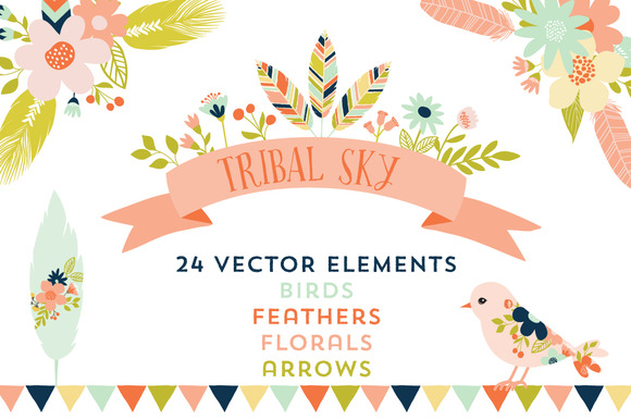 Tribal Sky Vector Elements