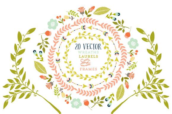 Wreaths Laurels Frames