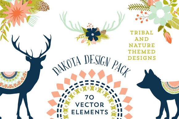 Dakota Vector Rustic Nature Elements