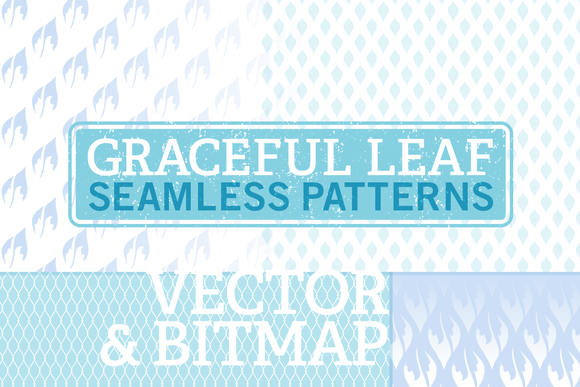 Vector Bitmap Seamless Leaf Patterns