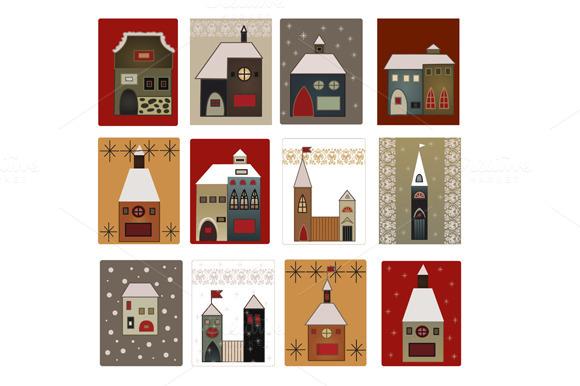 Christmas Houses Set