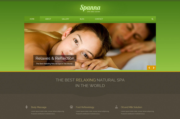 Spanna Beauty Spa WordPress Theme