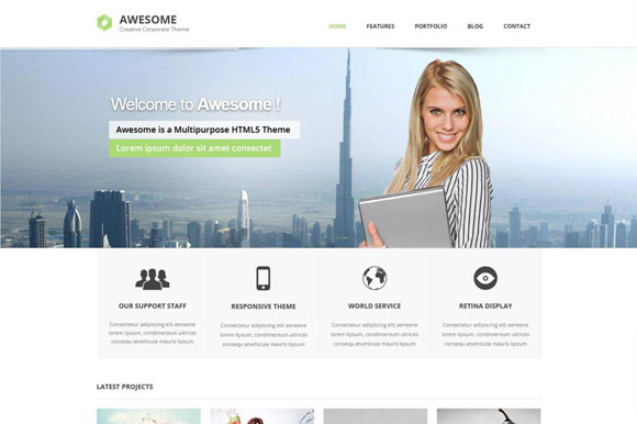 Awesome Responsive HTML Template
