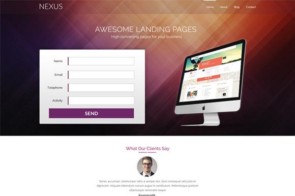 Nexus Landing Page PSD Template