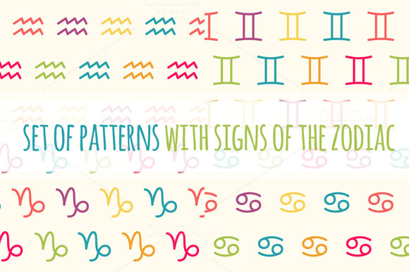 Set Of Patterns Zodiac