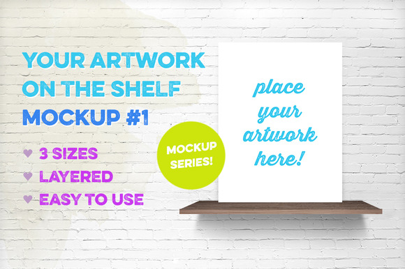 Artwork On The Shelf Mockup #1