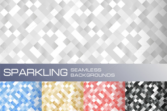 5 Seamless Sparkling Backgrounds