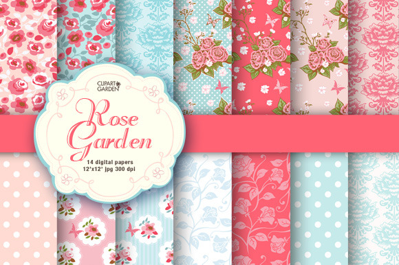 Romantic Floral Papers Pack