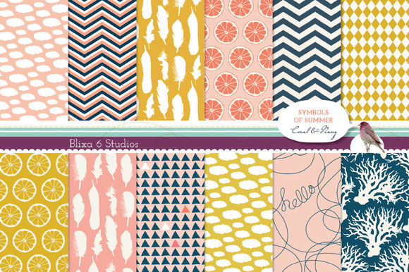 Symbols Of Summer Digital Patterns