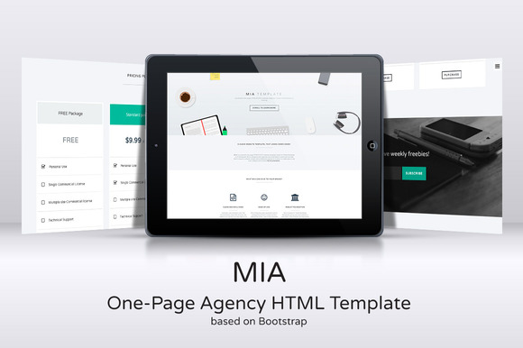 MIA One-Page Agency HTML Template