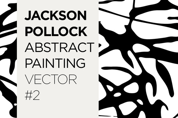 Abstract Drip Painting Vector #2