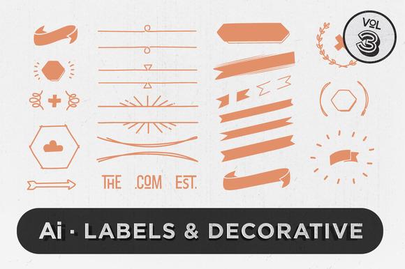 Labels Decorative Vectors Vol.3