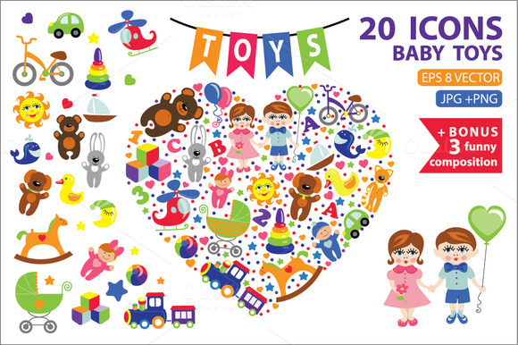 Children Toys Icons