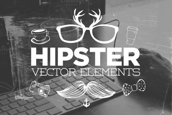 30 Handsketched Hipster Vectors