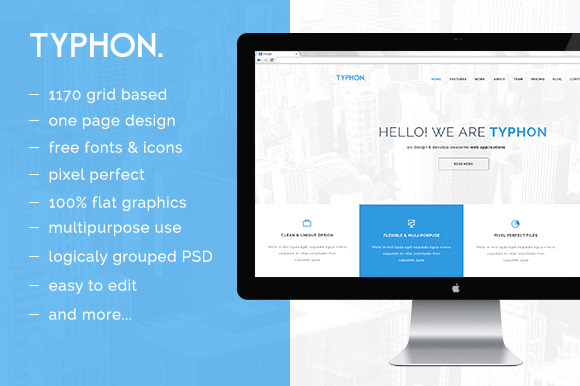 Typhon One Page PSD