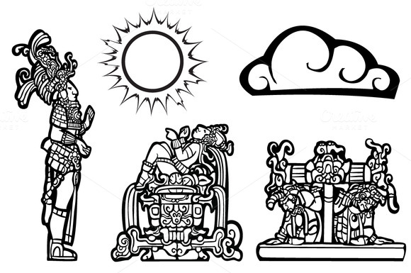 Mayan Lords With A Sun Cloud Spots
