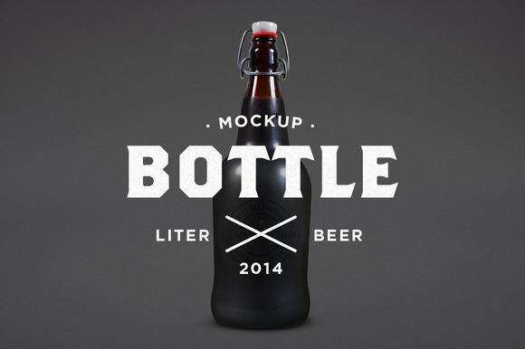 Liter Beer Mock-Up