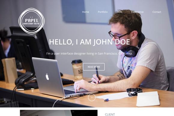 Papel Single Page Portfolio Theme