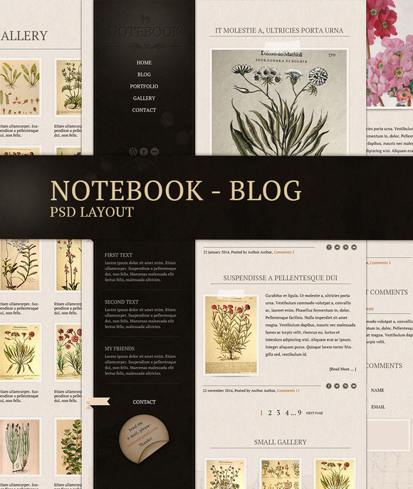 Notebook Blog Template