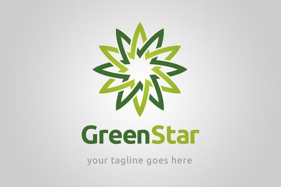 Green Star Logo Template