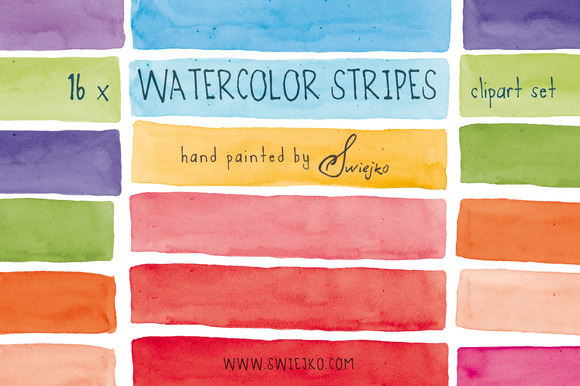 Watercolor Stripes