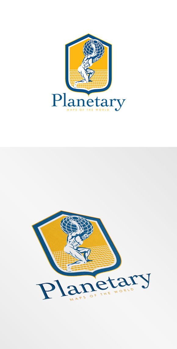Planetary Maps Of The World Logo