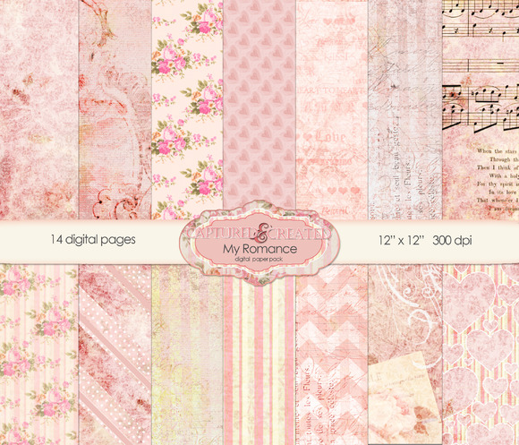 My Romance Digital Paper Pack 14