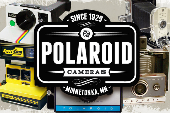 Retro Polaroid Cameras Photo Objects