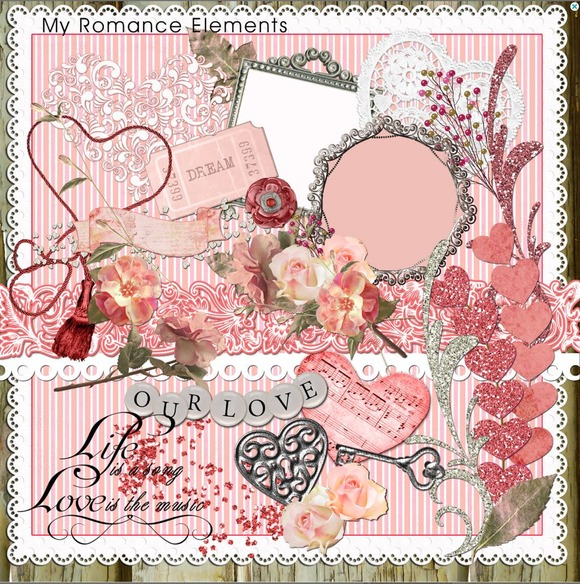 My Romance Clip Art Element Pack49