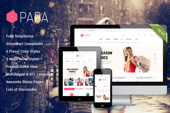 SJ Papa Awesome ECommerce Template
