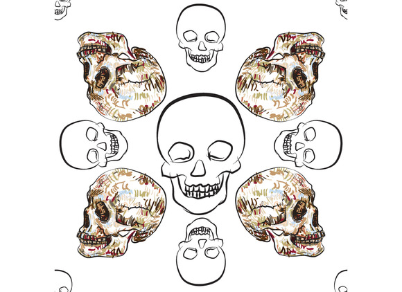 Seamless Pattern Of Skull