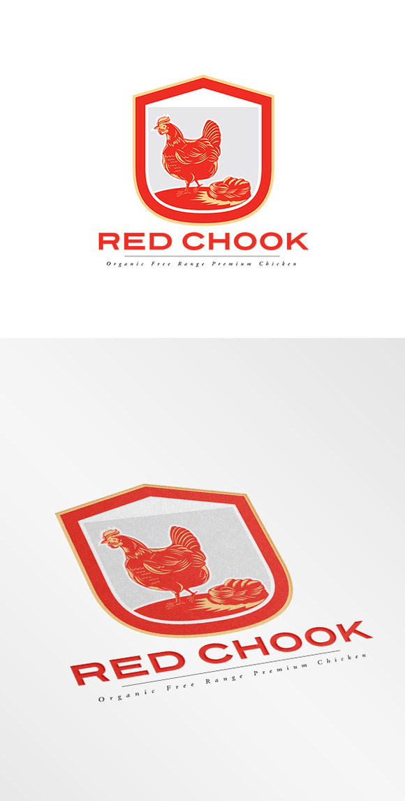 Red Chook Free Range Chicken Logo