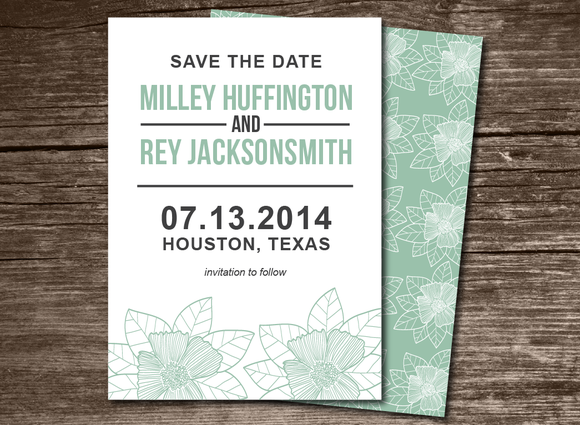 Flower Save The Date Invitation