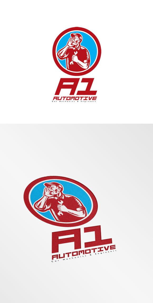 A1 Car Mechanic Logo