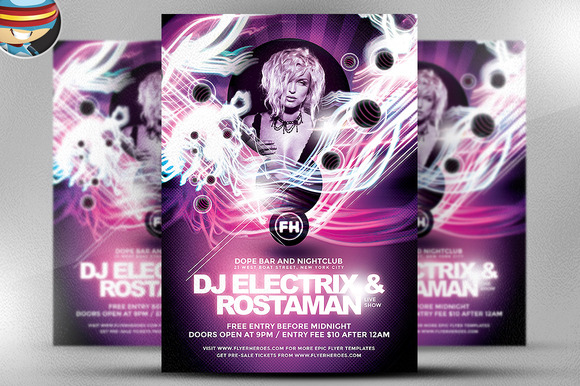 Electrix PSD Flyer Template
