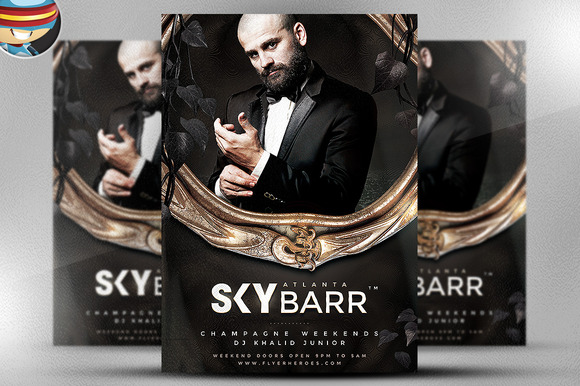 Skybarr PSD Flyer Template