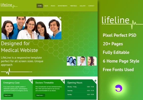 Lifeline Is Health PSD Template