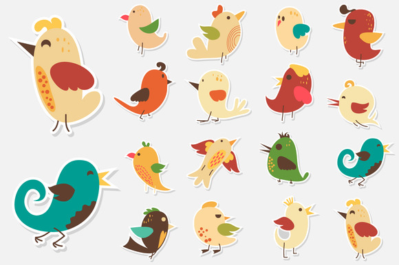 Cute Sticker Birds