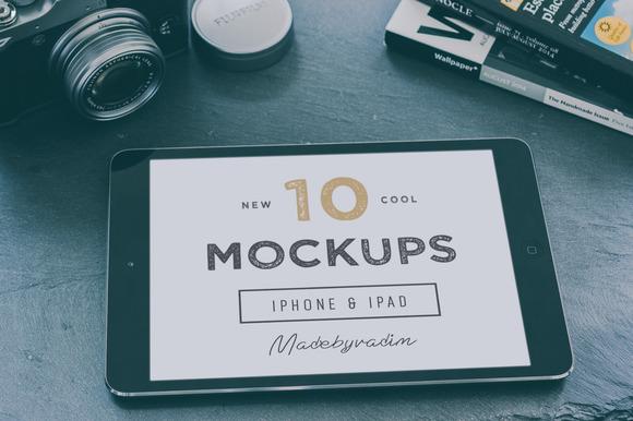 10 Cool IPad IPhone Mockups