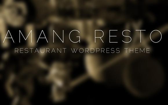 Amang Resto Restaurant WP Theme