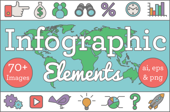 Outline Infographic Elements