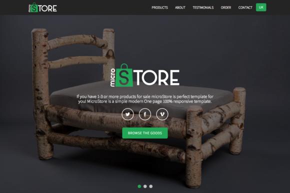 MicroStore OnePage Ecommerce Theme