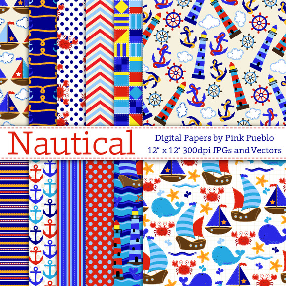 Seamless Nautical Patterns Or Papers