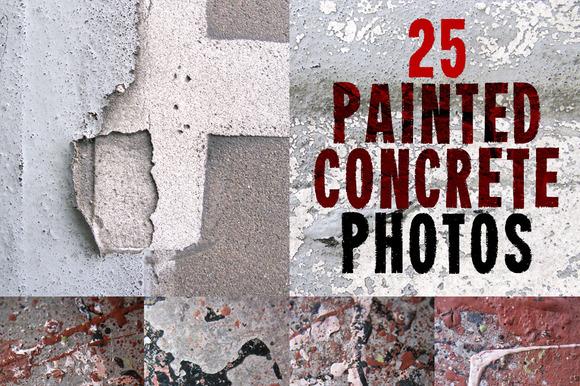 Painted Concrete Photo Set 25 HRs