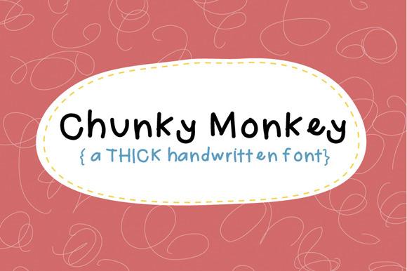 Chunky Monkey Hand Drawn Font