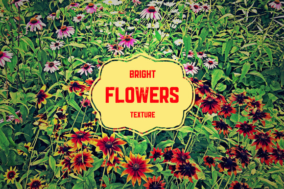 Bright Flowers Texture