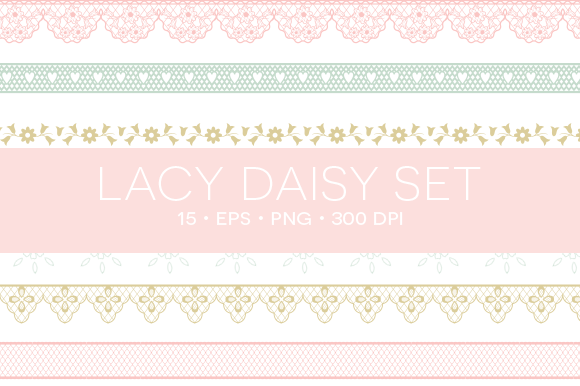 15 Lace Clipart EPS PNG
