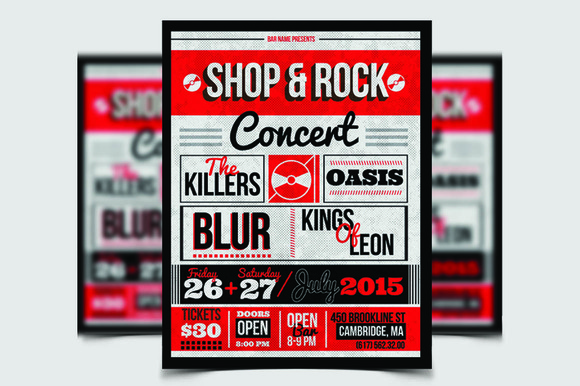 Shop Rock Flyer Template Poster