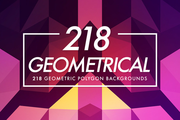 218 Geometrical Polygon Backgrounds