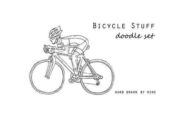 BICYCLE STUFF Doodle Set